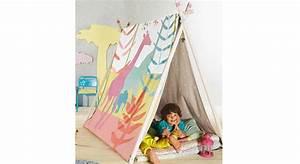 Tente Chambre Fille : diy comment cr er une tente d 39 int rieur pour enfants ~ Teatrodelosmanantiales.com Idées de Décoration