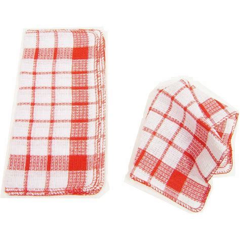 Rag Area Rugs by Home Basics Waffle 32 Piece Weave Dish Cloth Set H41234a