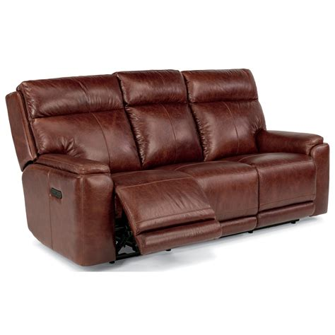flexsteel leather reclining sofa flexsteel latitudes sienna 1675 62ph power reclining sofa