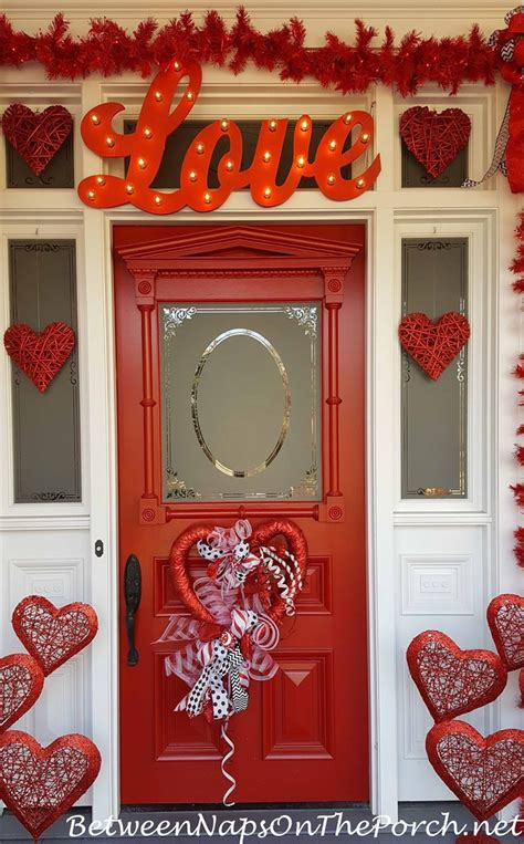 valentines day decorations decorate  porch front