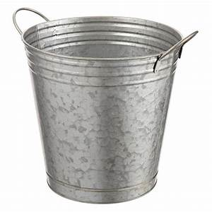 Galvanized, Bucket, Planter, -, Baskets, Buckets, U0026, Boxes, -, Home, Decor