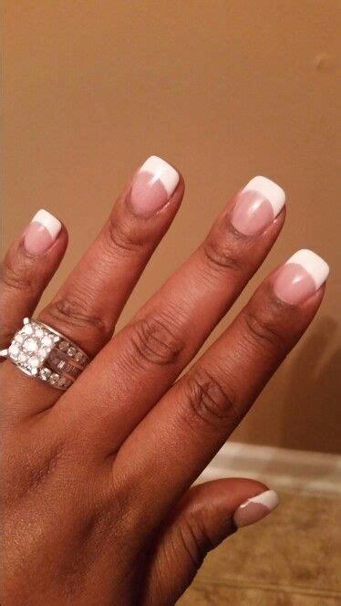 french sns nails nailed  pinterest french nails