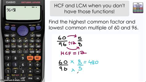 find highest common factor lowest common multiple
