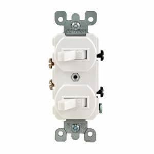 Double Switch Wiring Diagram : leviton 15 amp combination double rocker switch white r62 ~ A.2002-acura-tl-radio.info Haus und Dekorationen