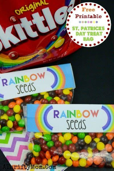 st patricks day  printable rainbow seeds