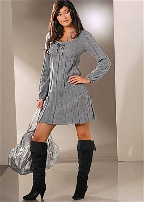 gray sweater dress grey sweater dress boots from venus fasion