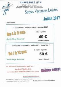 Vacances Juillet 2017 : dunkerque gym officiel stages loisirs vacances juillet 2017 ~ Medecine-chirurgie-esthetiques.com Avis de Voitures