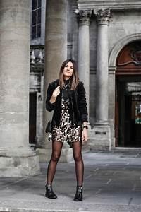 Bottines Avec Robe : petite robe sequins boots clous june sixty five blog mode ~ Carolinahurricanesstore.com Idées de Décoration