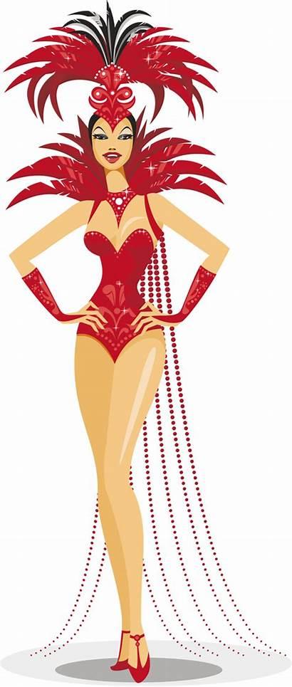 Showgirl Vector Showgirls Classic Graphics Elements Vegas