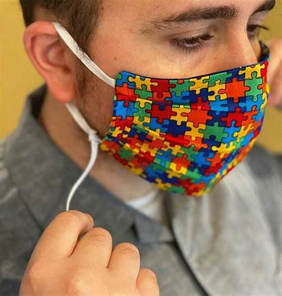 Mask Face Adjustable Masks Sewing Autism Awareness