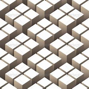Cubes 3D Seamless Pattern by alisher9 | GraphicRiver