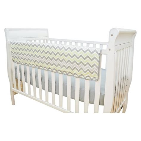 crib side rail covers tl care zig zag crib side rail cover target