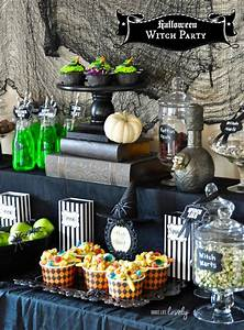 Witch, Halloween, Party, Cauldron, Pudding