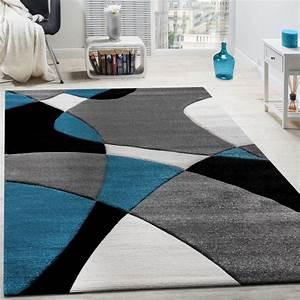 Teppich Grau Modern : designer teppich modern geometrische muster konturenschnitt in t rkis grau schwarz teppiche ~ Whattoseeinmadrid.com Haus und Dekorationen
