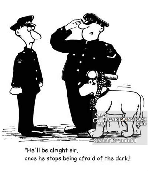 police dog handler cartoons  comics funny pictures
