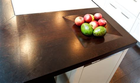 Wood Countertops with Integrated Bowls by Grothouse