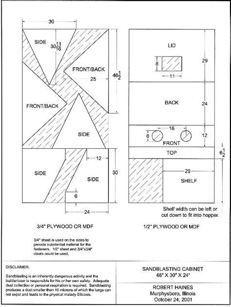 Abrasive Blast Cabinet Plans kdpn great sandblasting cabinet plans
