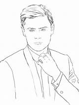 Coloring Zac Efron Celebrity Pages Books Adult Drawings Swoon Celebrities Designlooter Sketch 900px 77kb Sketches Socialitelife Template sketch template