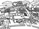 Coloring Simpsons Characters Ingrahamrobotics sketch template