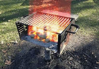 Grill Burning
