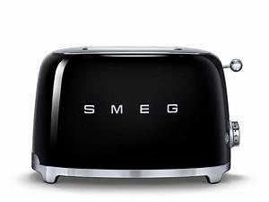 Smeg Küchenmaschine Zubehör : smeg tsf01bleu 2 scheiben toaster schwarz f r 139 00 eur ~ Frokenaadalensverden.com Haus und Dekorationen