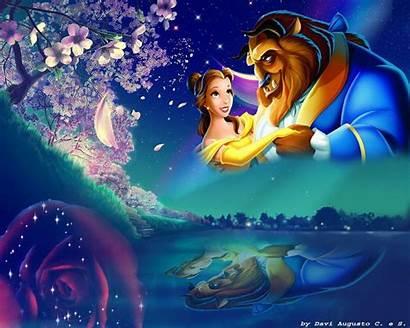 Beast Beauty Disney Princess Belle Wallpapers Desktop