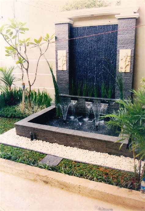desain taman hias  kolam pancuran design rumah