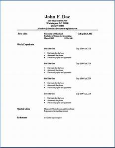 Simple resume samples sample resumes for Show me how to write a simple resume