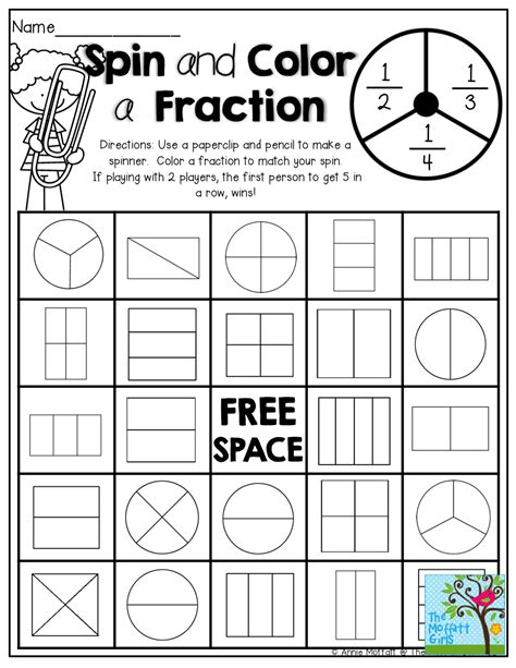 Color The Fraction Worksheets Math And Activities Color Best Free Printable Worksheets