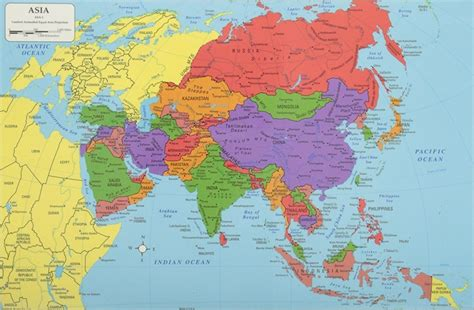 asia continent asia map list  countries  asia einfon