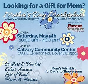 CCA 2015 Mother's Day Marketplace Craft & Vendor Sale | We ...