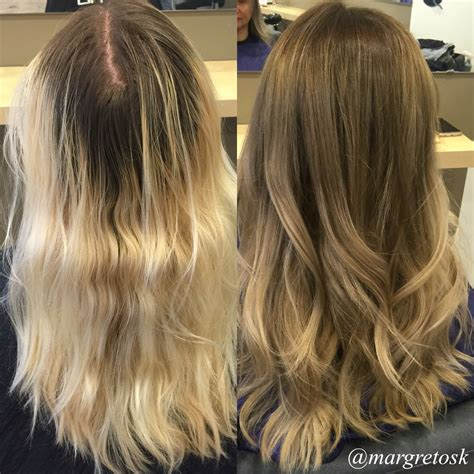 coloring   blonde ends