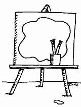 Easel Clipart Drawing Cliparts Clip Library Activity sketch template