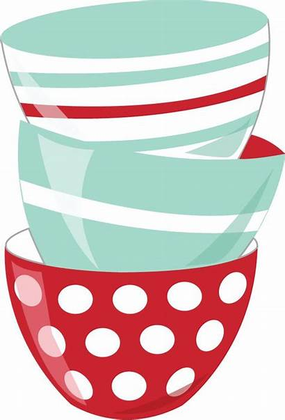 Baking Clipart Bowls Clip Cooking Kitchen Recipe