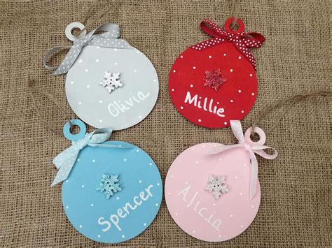 christmas tree decoration hand painted wood baubles