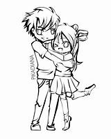Coloring Couple Anime Couples Pages Chibi Drawing Boyfriend Printable Girlfriend Kissing Drawings Lineart Deviantart Holding Hands Sheets Hiwatari Diana Hand sketch template