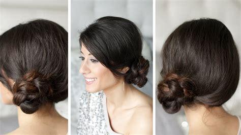 Braided Side Bun Hairstyles braided side bun