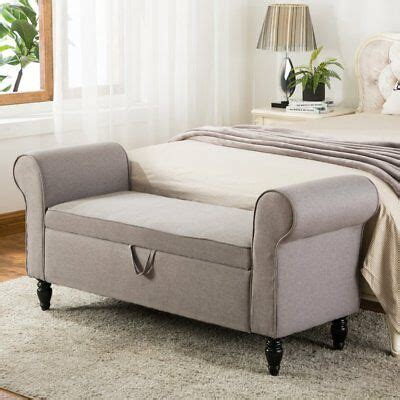 storage ottoman with arms modern fabric storage ottoman bench upholstered footstool
