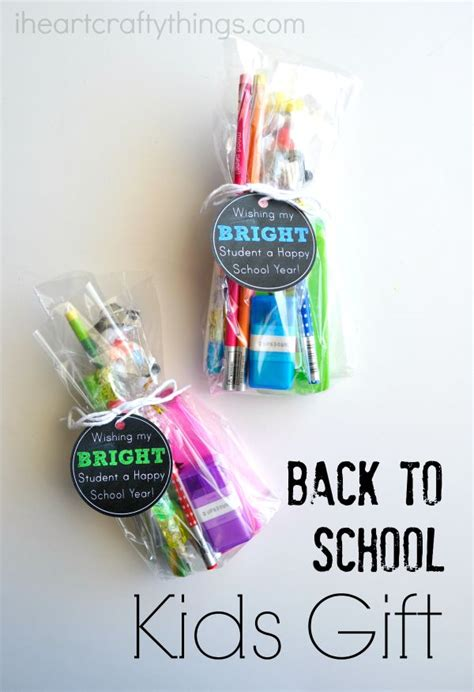 list of gifts to school children back to school gift with printable gift tag