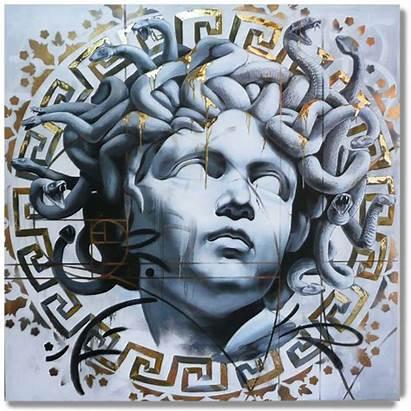Medusa Versace Tattoos Danny Tattoo Painting Paintings