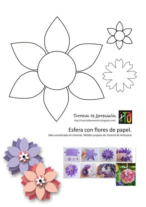 moldes de flores esfera en el blog artesanias y tutoriales pinterest tutorials