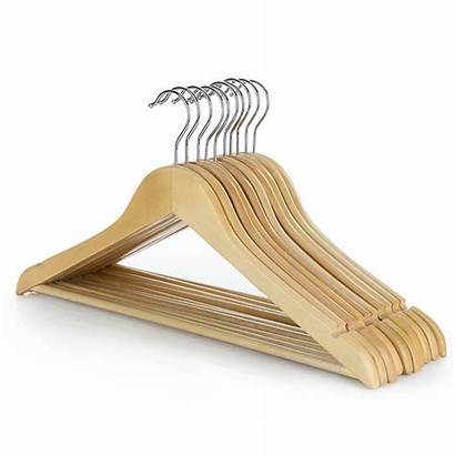 Hangers Clothes Wooden Bar Coat Trouser Garment