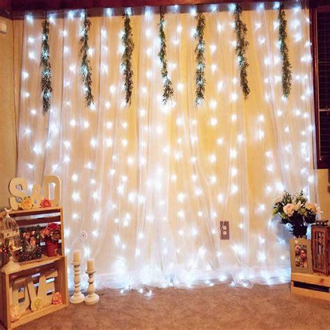 drape lights weddings weddings backdrop curtains with lights