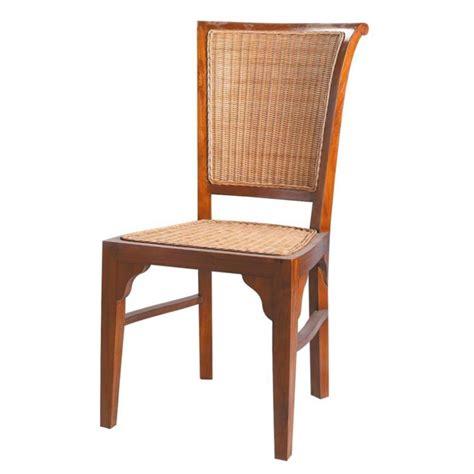 chaise de jardin maison du monde chaise en rotin et teck massif sofia maisons du monde