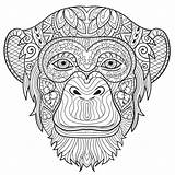 Coloring Monkey Adult Pages Animals Adults Printable Animal Print Colouring Mandala Calm Sheet Take Stop Creatively Studios Flowers Books Getcolorings sketch template