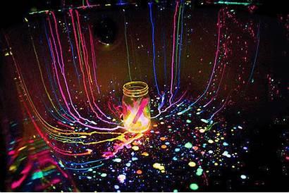 Neon Paint Glow Dark Splatter Rave Gifs