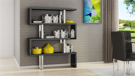 Black High Gloss Bookcase by Lester High Gloss Black And Silver Modern Cube 66 Inch