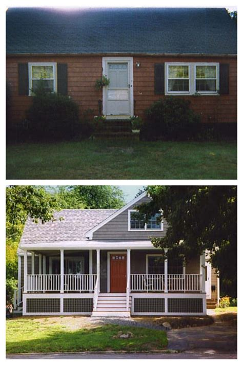 before and after home exterior makeovers exterior remodel before and after screened porch pinterest exterior remodel front porches