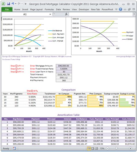 mortgage amortization table excel 30 year mortgage amortization schedule excel
