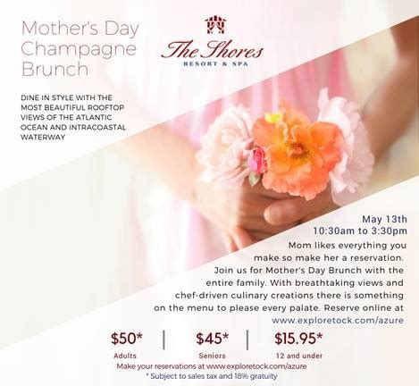 mothers day brunch shores resort spa volusia mom